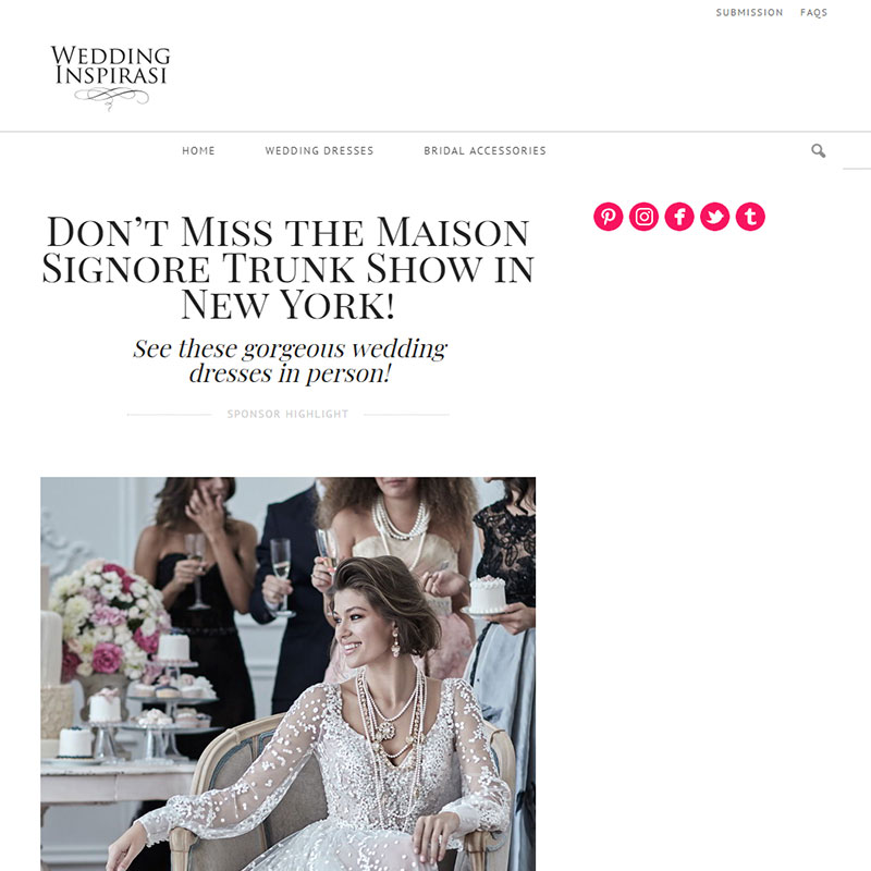 115df56db2ff Don t Miss the Maison Signore Trunk Show in New York!