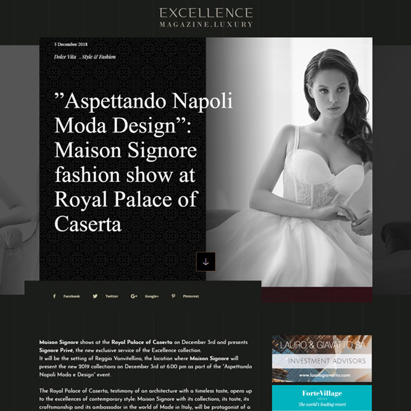 "2eb8f0f9dc75 ""Aspettando Napoli Moda Design""  Maison Signore fashion show at Royal  Palace of Caserta"